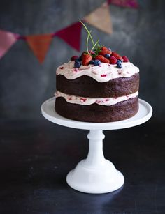 Chocolate berry birthday cake p.214   Thermomix cookbook   Something for Everyone