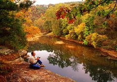 Stunning fall colors on the Buffalo National River in Arkansas