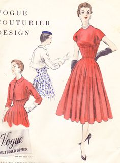 Fitted Dress and Bolero 1950s Vintage Womens by Sutlerssundries, $75.00