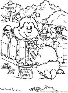 Rainbow Brite Coloring Pages Online