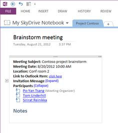 Taking Meeting Notes in OneNote 2013 - Engineering OneNote Blog - Site Home - MSDN Blogs