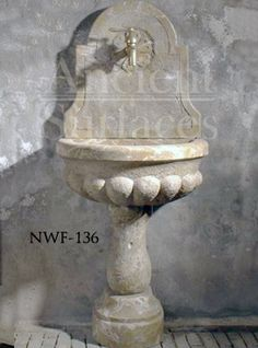 New Hand Carved Wall Fountains by Ancient Surfaces. Limestone Wall, Limestone Fireplace, Water Features, Hand Carved, Wall Fountains, Carving, Outdoor Decor, Garden Ideas, Crafts