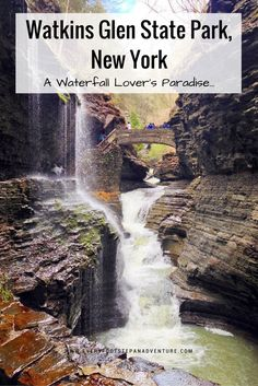 Here's why you have to visit Watkins Glen State Park — the prettiest waterfall destination I've ever been! @nystateparks