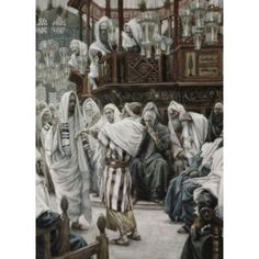 Christ Healing the Withered Hand James J Tissot (1836-1902 French) Canvas Art - James Tissot (18 x 24)