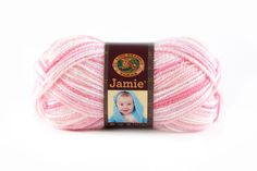 JAMIE- PINK STRIPES - This modern update of our classic Jamie® yarn features a sophisticated sherbet color palette and a versatile DK weight. Snuggly soft, machine washable and dryable this yarn is perfect for every baby project.