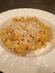 Williams-Sonoma recipe for Butternut Squash Risotto.  SO good.  Great dish for a hungry holiday crowd!
