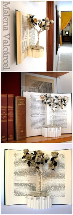 "Book Sculpture ""The tree of Love"" www.MalenaValcarcel.etsy.com"