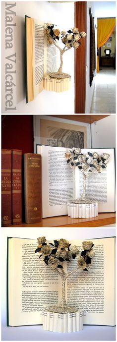 "Book Sculpture ""The tree of Love"" www.MalenaValcarcel.etsy.com"