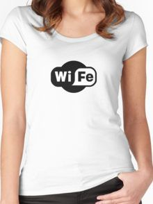 Wife ...a Wi-Fi parody Women's Fitted Scoop T-Shirt