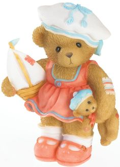 Cherished Teddies Justice Sailor Bear with Boat - Sail Away With Me