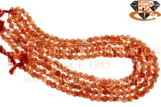Sunstone Smooth Coin (Flat) (Quality B+) Shape: Coin Smooth Length: 36 cm Weight Approx: 10 to 12 Grms. Size Approx: 6 to 6.5 mm Price $6.76 Each Strand
