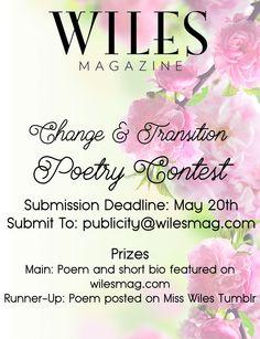 Wiles is having a poetry contest! #poetrycontest #wilesmagazine #poem #poetry #misswiles
