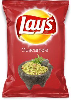 Guacamole my lays chip flavor.