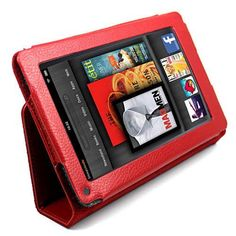 Roocase dual view case for kindle fire hd 7 black by roocase red portfolio leather case cover screen protector for amazon kindle fire 7 tablet ebook fandeluxe Choice Image