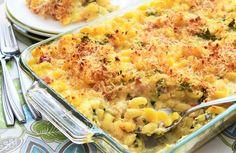 Mac and Cheese with Creamy Cauliflower Sauce and Ham