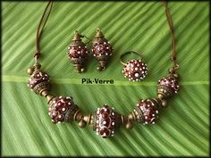 My lampwork glass beads  www.facebook.com/PikVerre