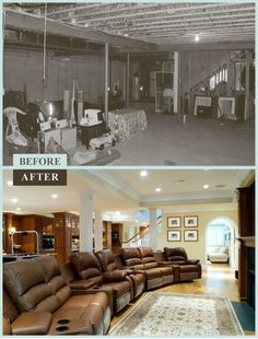 Basements Before And After | Steeplechase Lane in Malvern, PA – The old basement, which stored ...