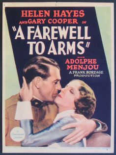 """HELEN HAYES and GARY COOPER in the film """"A Farewell To Arms"""""""