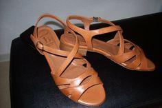 Sandaletten von Luca Grossi, Farbe cognac , Gr. 37,5 , Absatz 2cm