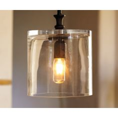 Glass Jar Pendant Light