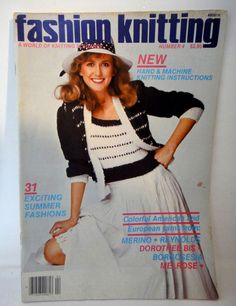 Vintage Fashion Knitting Magazine Issue #4 August 1982 Milan Italy 31 Patterns  #arts #crafts #knitting #fabric #teacher #classroom