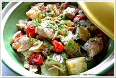 Kulinarny karnet Christophera: Kurczak w warzywach z jabłkami.