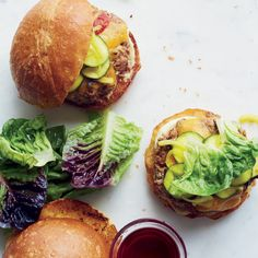 Farmbar Pork Burgers with Bread-and-Butter Zucchini Pickles | Food & Wine