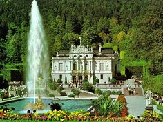 Castle Linderhof (Schloss Linderhof), built by Mad King Ludwig who also built Castle Neuschwanstein