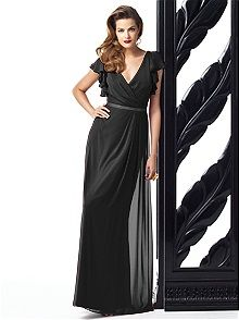Dessy Collection Style 2874 #black #bridesmaid #dress