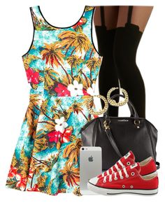 """""""Untitled #928"""" by power-beauty ❤ liked on Polyvore featuring Pretty Polly, Forever 21, H&M and Converse"""