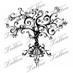 Whimsical Tree of Life.would make a pretty wall decal Vine Tattoos, Body Art Tattoos, Cool Tattoos, Tatoos, Tattoo Life, I Tattoo, Tattoo Flash, Tree Tat, Dibujos Tattoo