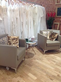 Our leather chairs are the perfect spot for your bridal party to witness your grand reveal. Flower Girl Dresses, Prom Dresses, Prom Dress Shopping, Leather Chairs, Designer Wedding Dresses, Interior And Exterior, Comfy, Bridal, Luxury