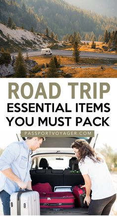 36 Essentials For Your Road Trip Packing List - Passport Voyager Hit the road safely with these road trip packing list essentials! Here's what to bring on the road to make the most of your next journey by car. Packing Tips For Vacation, Road Trip Packing List, Road Trip Essentials, Family Road Trips, Travel Packing, Travel Tips, Packing Lists, Best Road Trip Cars, Europe Packing