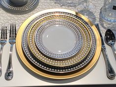 More Ashley place settings. Metallic still holding strong