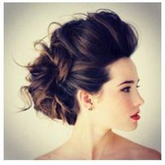 How I want my hair for Mack's wedding :)