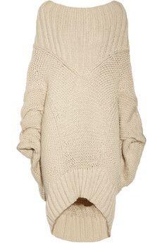 Donna Karan Casual Luxe oversized merino wool and mohair-blend sweater   NET-A-PORTER