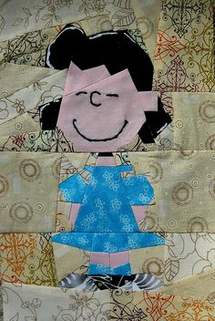 Lucy paper-pieced quilt (pattern linked from the Snoopy quilt, pinned earlier)