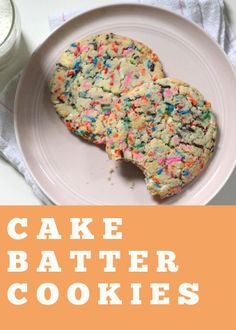 Cake Batter Cookies | Recipe