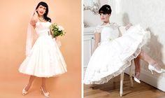 50s Tea Length Wedding Dresses