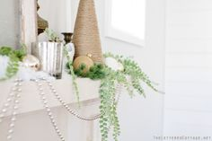 Natural Neutral Christmas Mantel