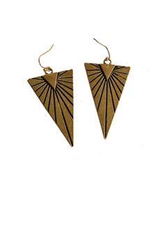 Gold Triangle Earrin