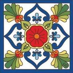 Arte Mexicano Pack de 25 Azulejos Mexicanos Artesanales de Talavera de 10.5cm