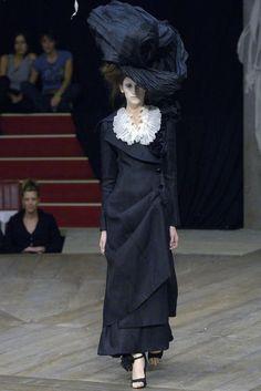 Alexander McQueen, Suit dress and headpiece 'Sarabande,' Spring/Summer 2007.