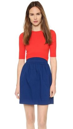 Carven Colorblock Sweater Dress