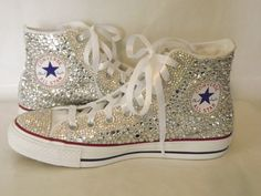 CUSTOM Bling Rhinestone Converse Chuck Talor High by EVRhinestones, $350.00