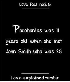 Love facts (pocahontas,disney,walt disney,love,facts,john smith,cartoon,native americans,interesting,history)