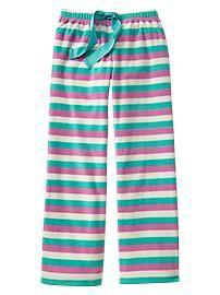 Printed fleece PJ pants