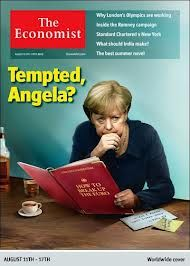 The Economist is of merkel the person in control of the Germany Euro crisis
