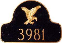 Eagle Arch Address Plaque
