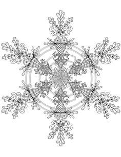 snowflake mandala coloring pages - google search   stitched ... - Mandala Snowflakes Coloring Pages